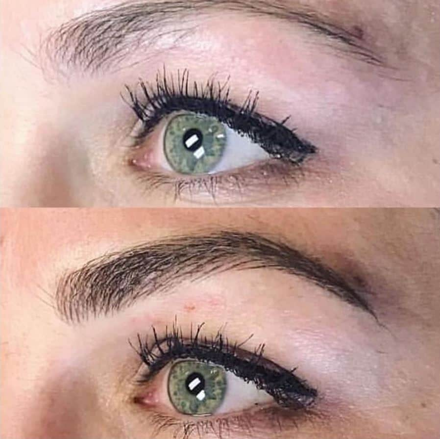 improve eyebrow shape microblading before and after
