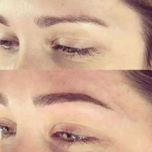 microblading perfect eyebrows before and after