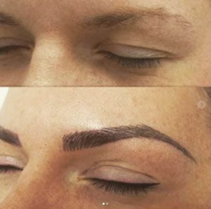 microblading eyebrow enhancement tattoo