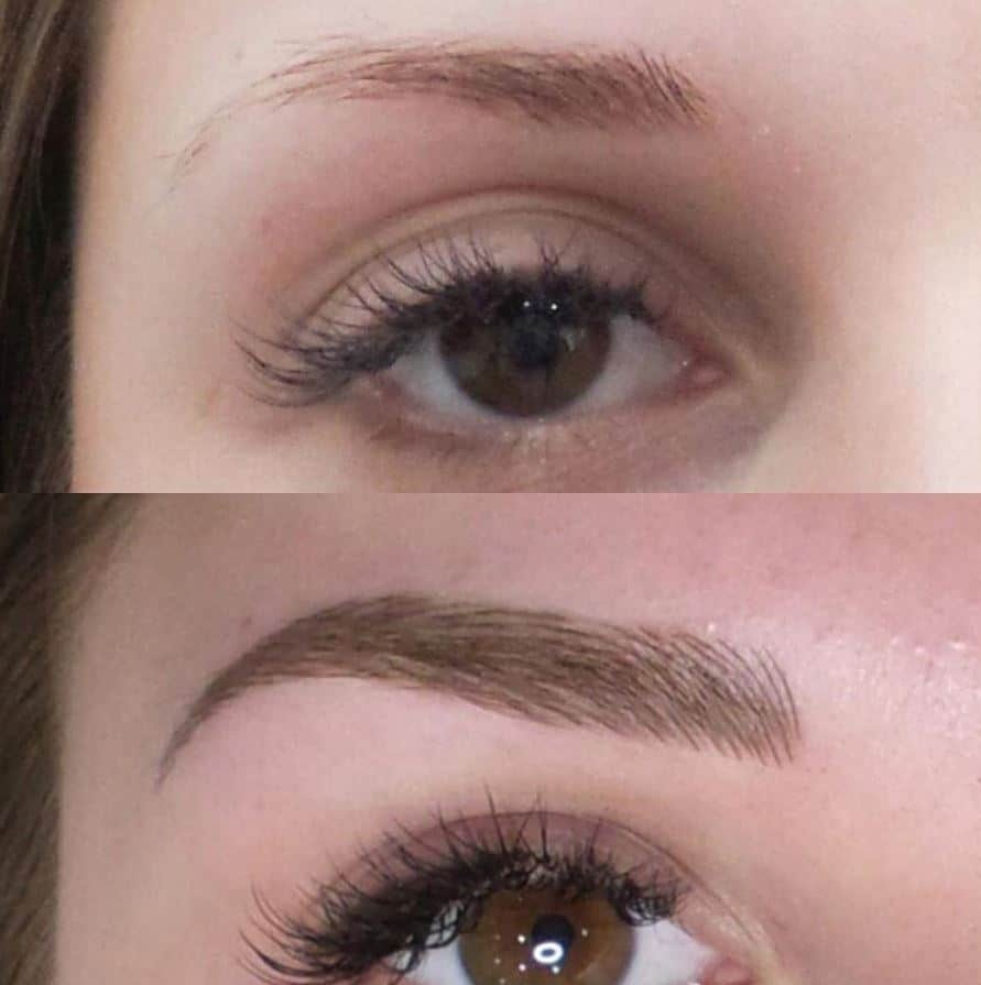 microblading eyebrow shape before and after